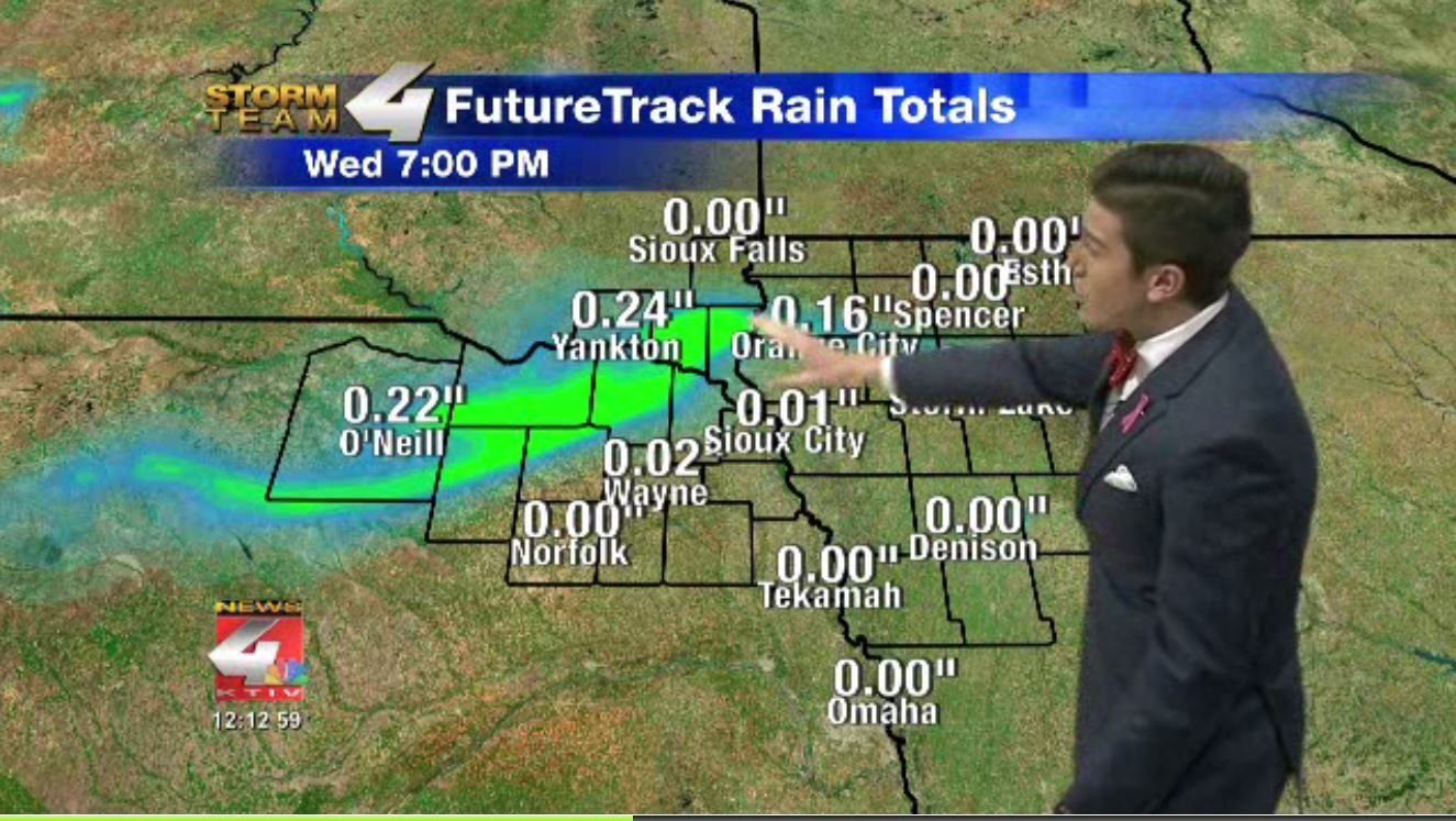 FutureTrack showing more rain possible later on today.