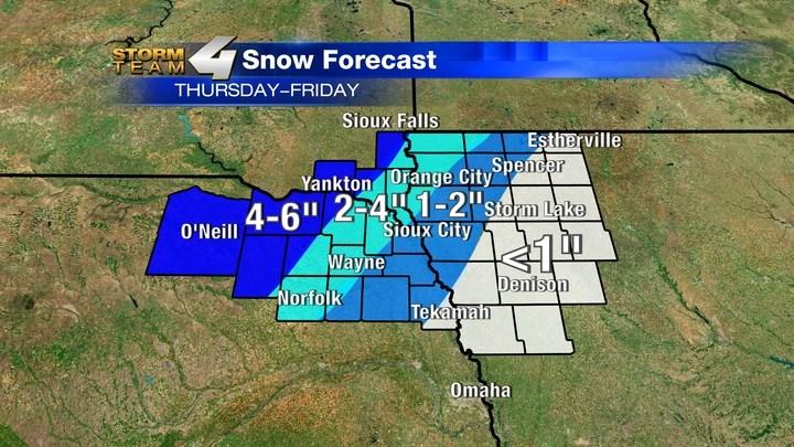 Snow Forecast for Siouxland