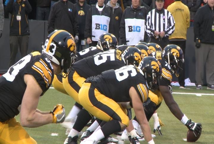 Iowa's offensive line is a finalist for the Joe Moore Award.