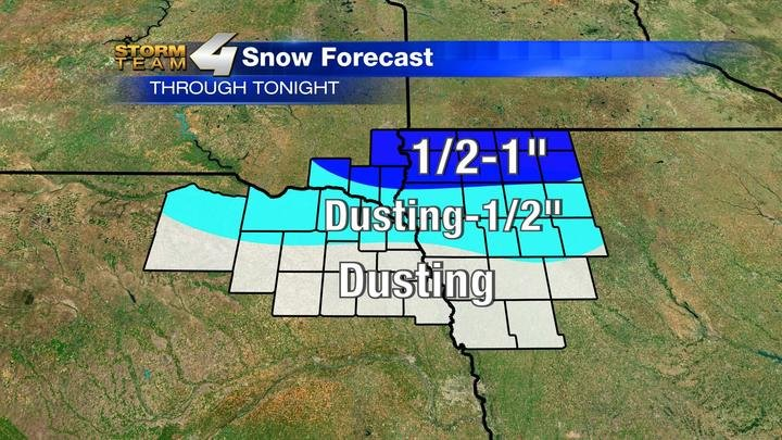 Snowfall Forecast Through Tonight