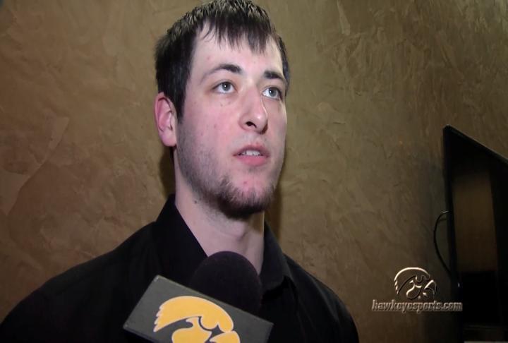 Iowa freshman Ryan Kriener scored six points against Purdue on Thursday.