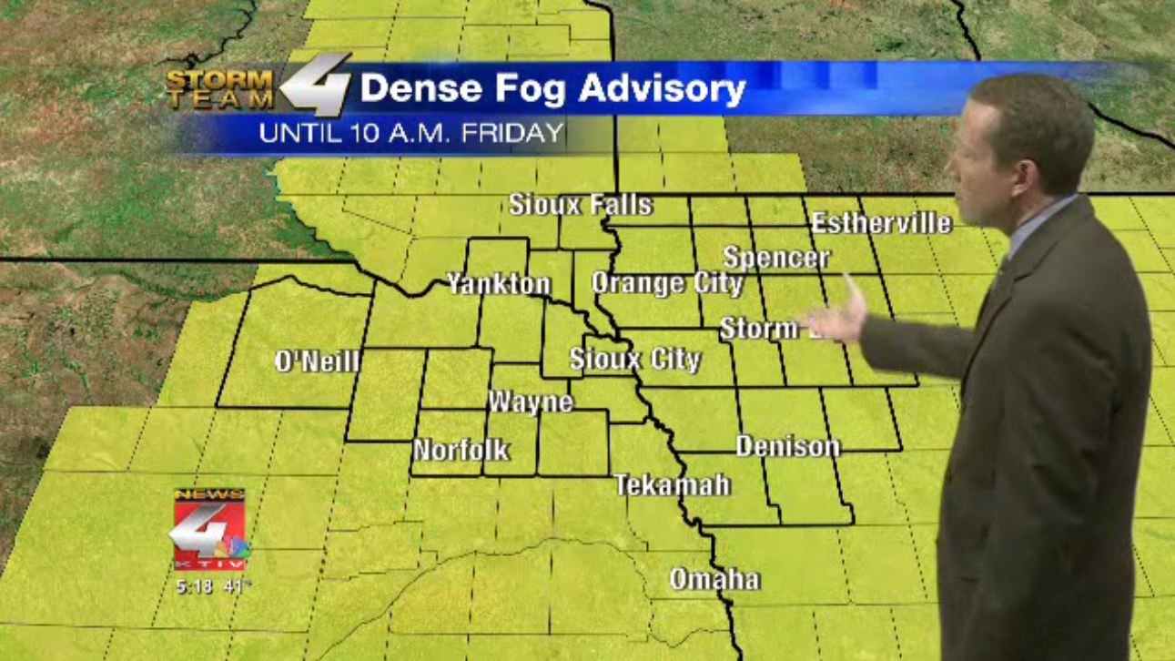 Fog advisory in effect Friday morning