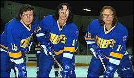 """The Hanson brothers, from the movie """"Slap Shot"""" will be on the ice for the Sioux City Musketeers on Saturday."""