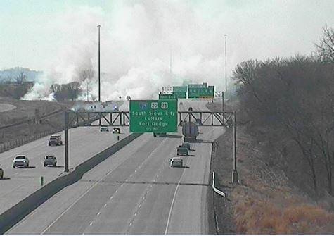 I-29 DOT CAMERA: Sioux City - South of RR Bridge