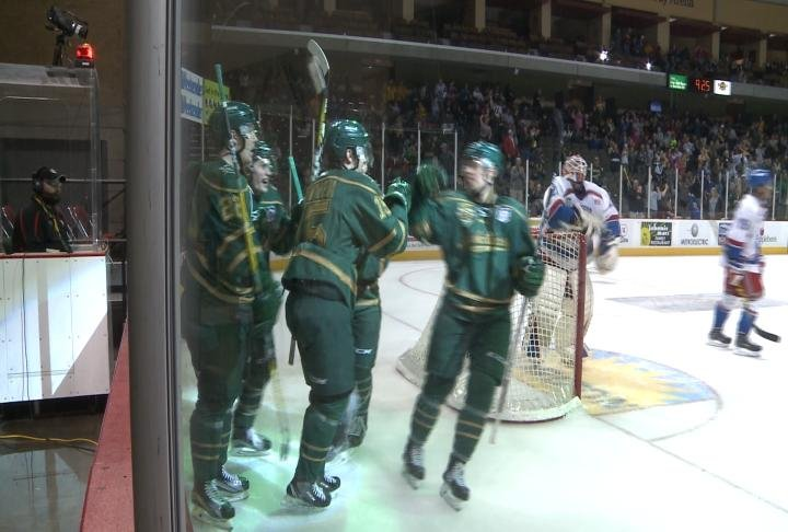 The Musketeers lead Des Moines, 2-0, in their USHL playoff series.
