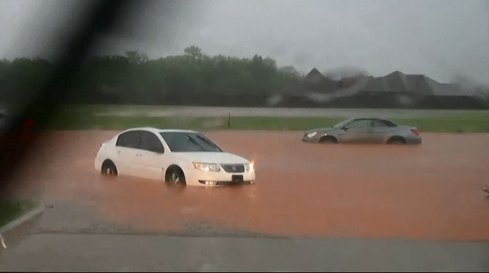 Heavy rains batter Oklahoma City Friday morning.