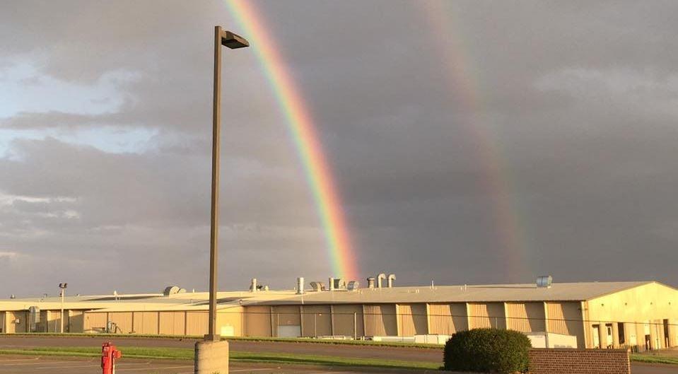 Photo Courtesy: Kurt Daum - Double rainbow in Wayne, Nebraska.