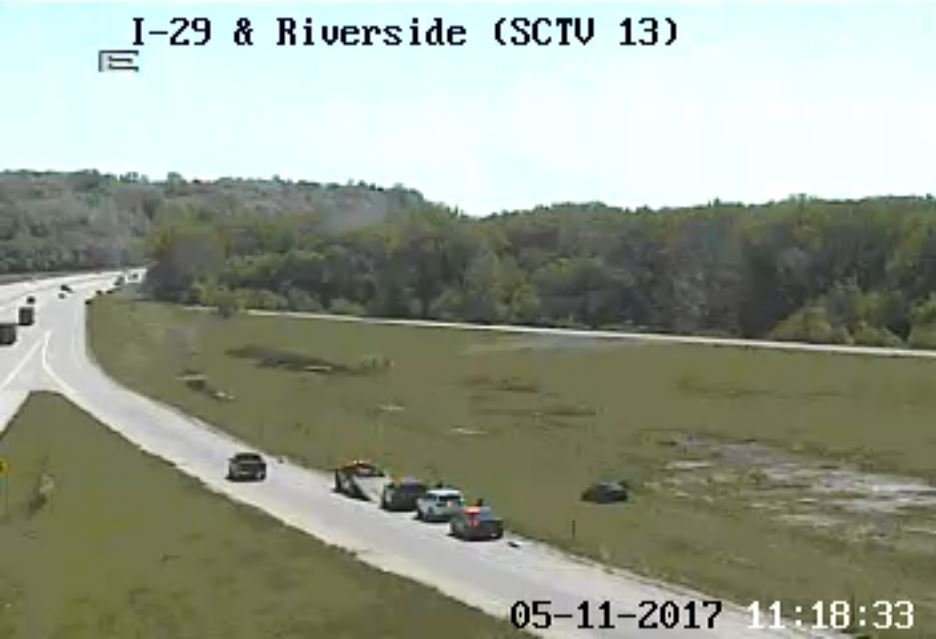 IDOT: Sioux City police activity near the Riverside Exit along I-29.