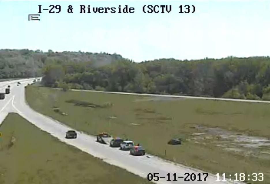 IDOT: Sioux City police activity near the Riverside Exit along I-29.
