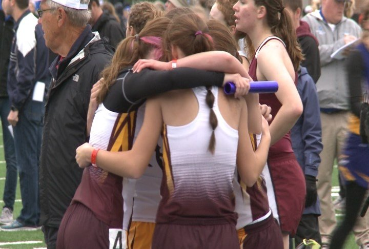 The MVAO girls won their second-straight Class 1A distance medley relay on Friday.