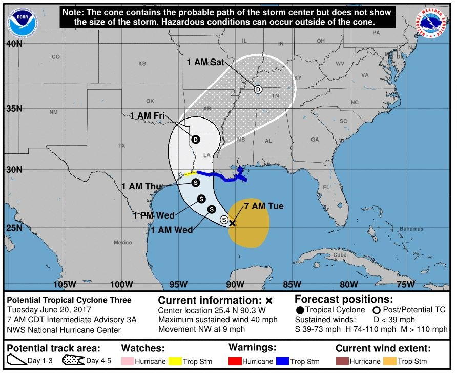 NOAA NWS National Hurricane Center