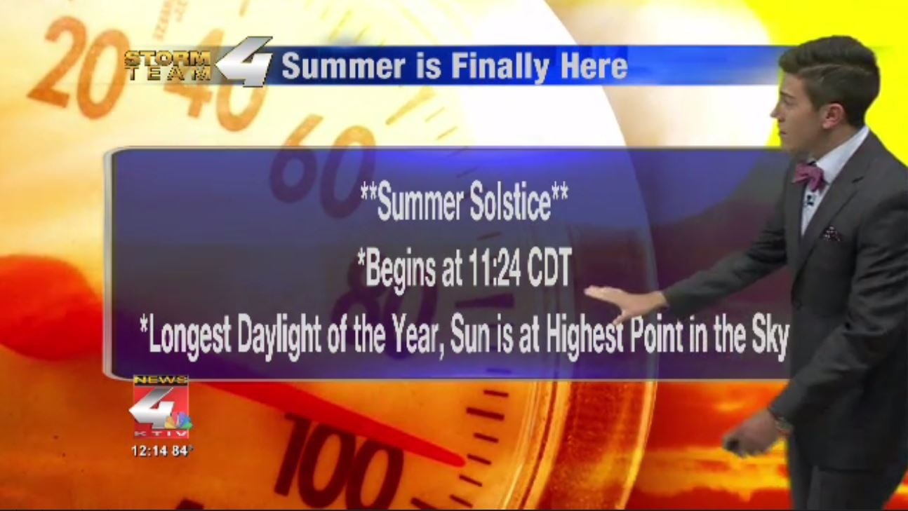 Summer is Arriving Tonight at 11:24 CDT
