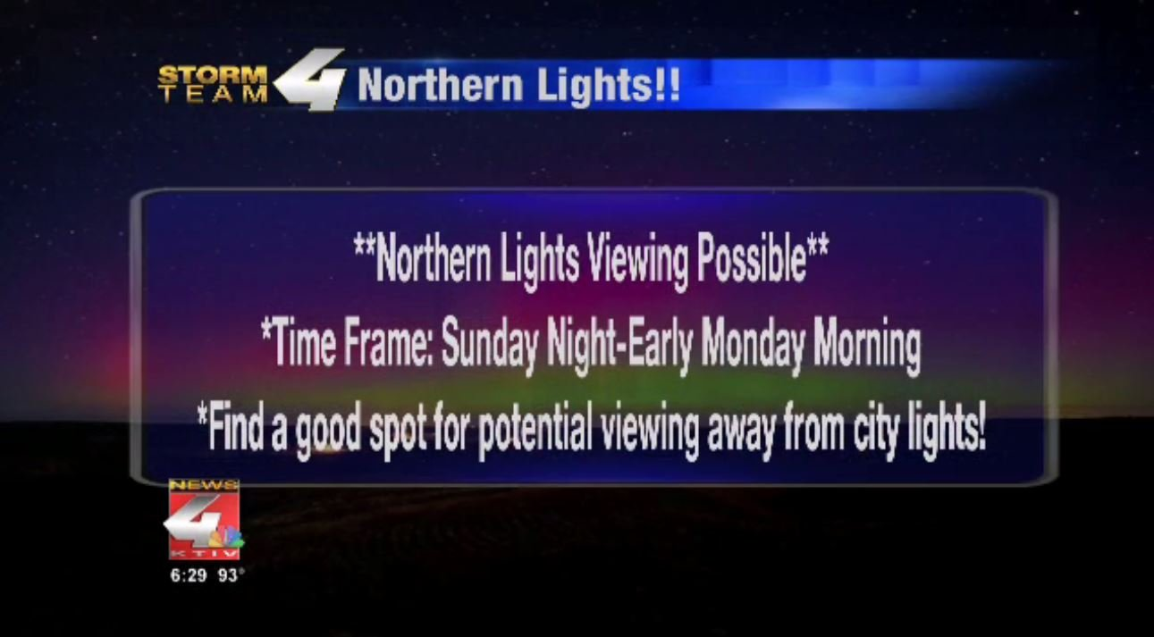 Northern Lights possible in Siouxland