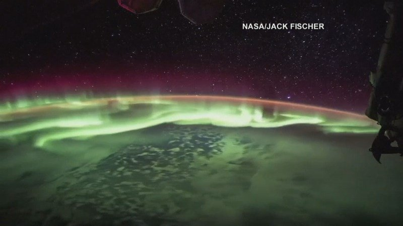 Breathtaking timelapse of Aurora Borealis from International Space Station