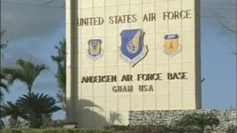 Three-hundred-fifty airmen from the 28th Bomb Wing at Ellsworth Air Force Base in South Dakota are among military personnel on Guam, the tiny Pacific island that's been the focus of recent global attention with escalating tensions between the U.S. and Nor