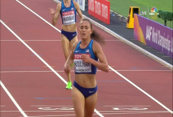 Shelby Houlihan qualified for the 5,000 meters finals at the World Championships.