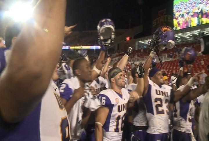 Northern Iowa beat Iowa State, 25-20, to start the 2016 season.