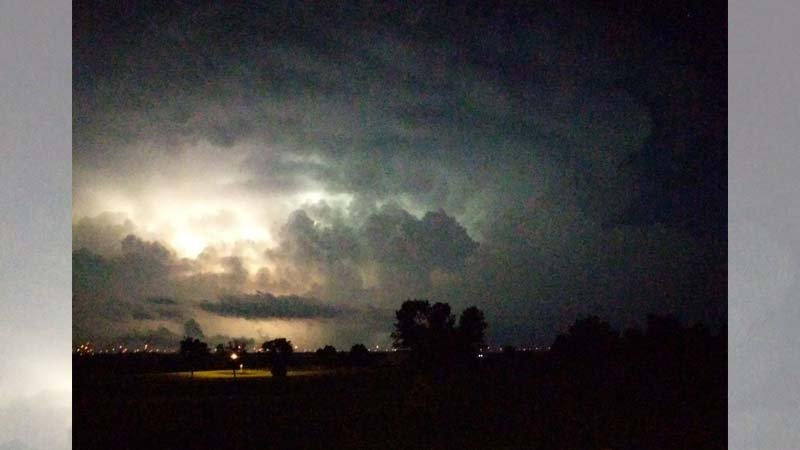 Courtesy: @MLyman98 Awesome #lightning and #mushroomcloud after the storm in Sanborn, Iowa tonight.