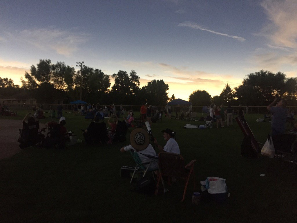 Totality has been reached in Ravenna, Nebraska. #Eclipse2017