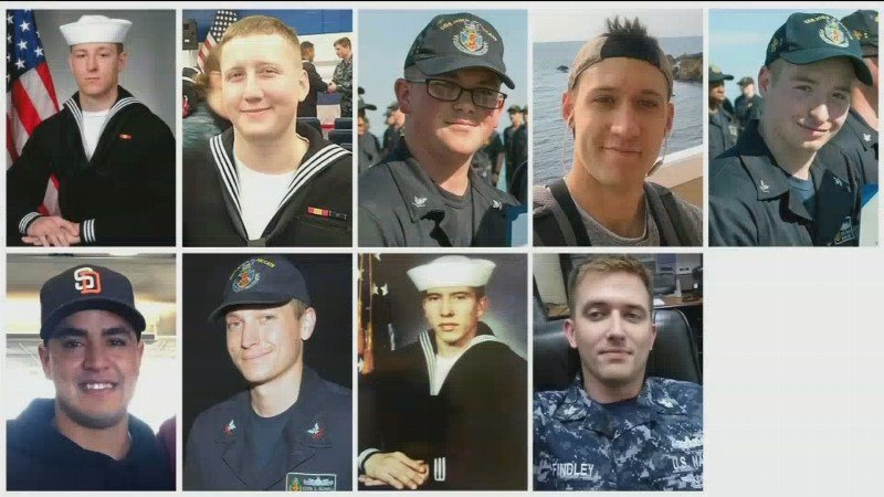 Navy recovers remains of all 10 sailors missing in USS McCain accident