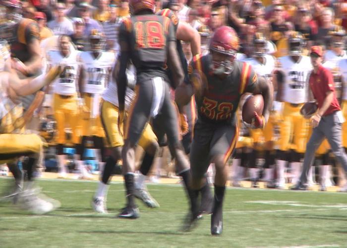 Iowa State's David Montgomery ranks third in the Big 12 in rushing.
