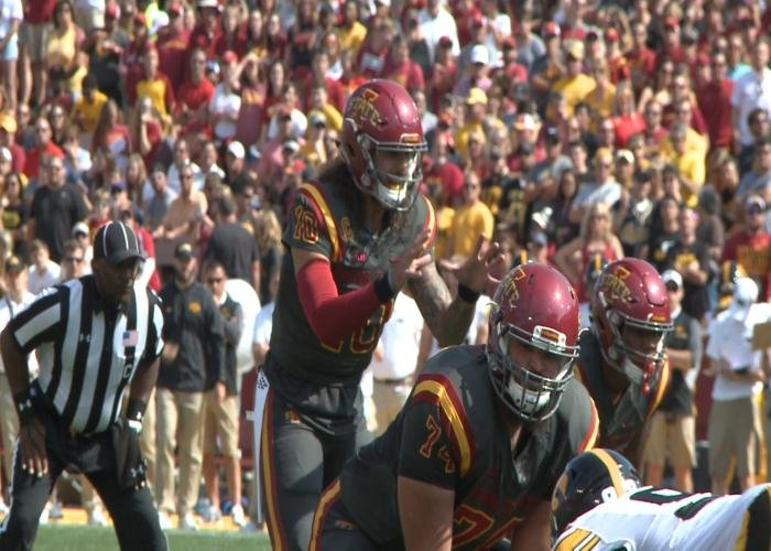 Iowa State's Jacob Park has only been sacked once through three games.