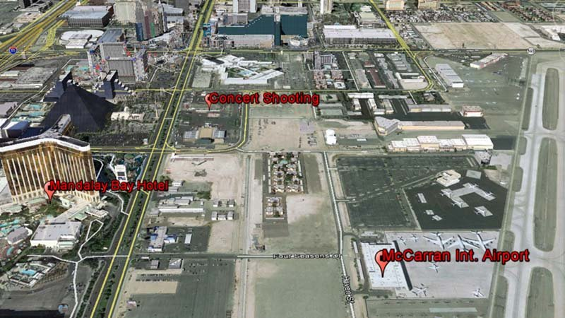 Photo Courtesy: Google Earth - Las Vegas shooting