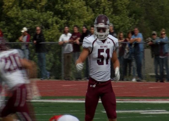 Morningside's Caden McDonald in the NAIA & GPAC Defensive Player of the Week.