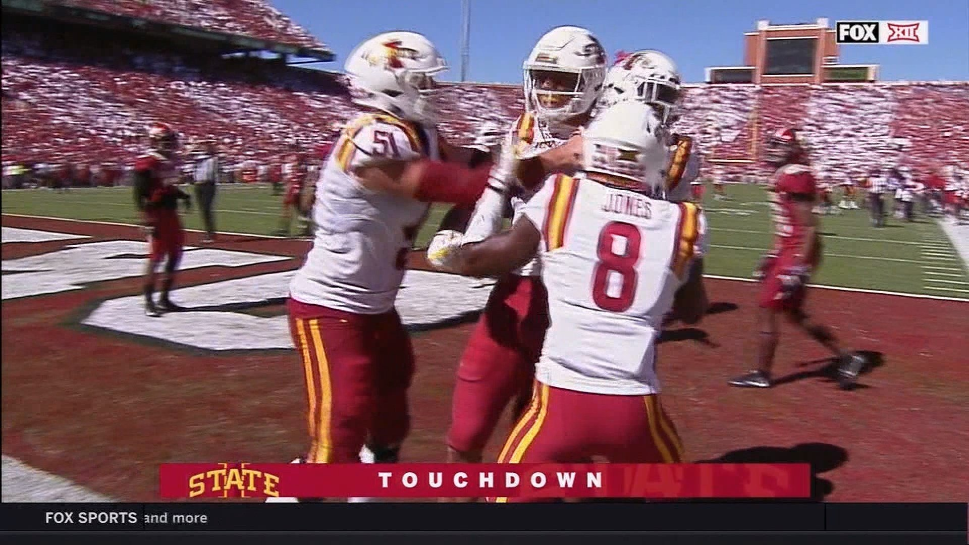 Iowa State beat Oklahoma on Saturday, 38-31.