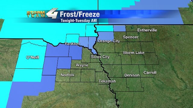 Frost Advisories, Freeze Watches, & Freeze Warnings are in effect from tonight-Tuesday morning!