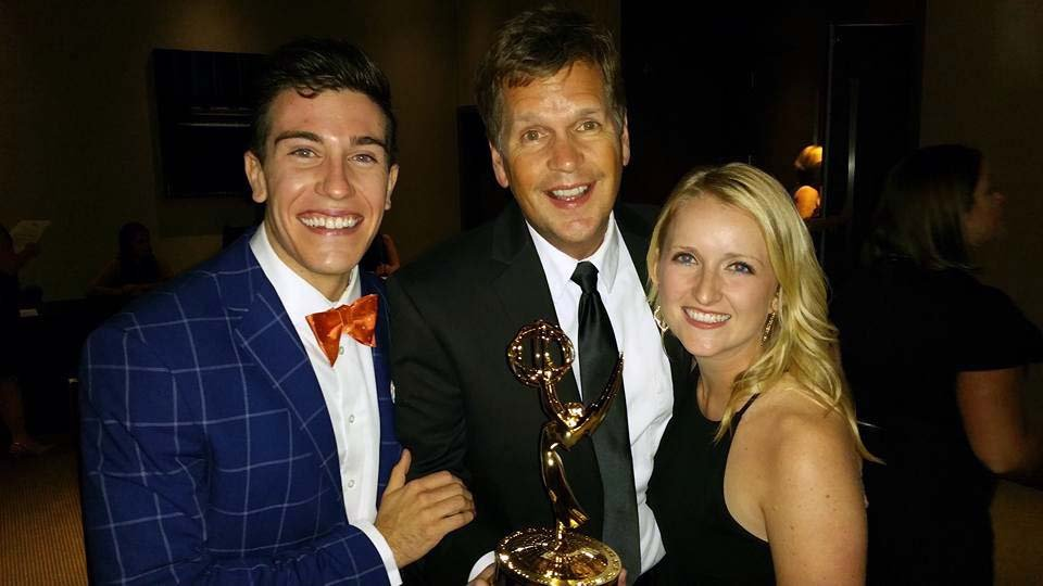 KTIV's T.J. Springer, Al Joens and Michelle Schoening accepted the Emmy for Morning Newscast.
