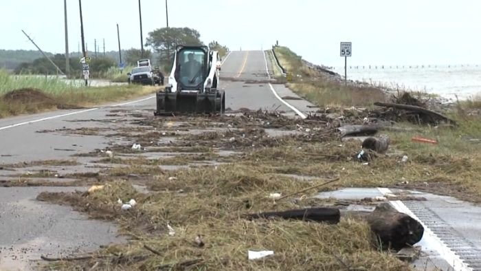 Gulf Coast residents are cleaning up after Hurricane Nate left flooding and downed power lines in its wake.