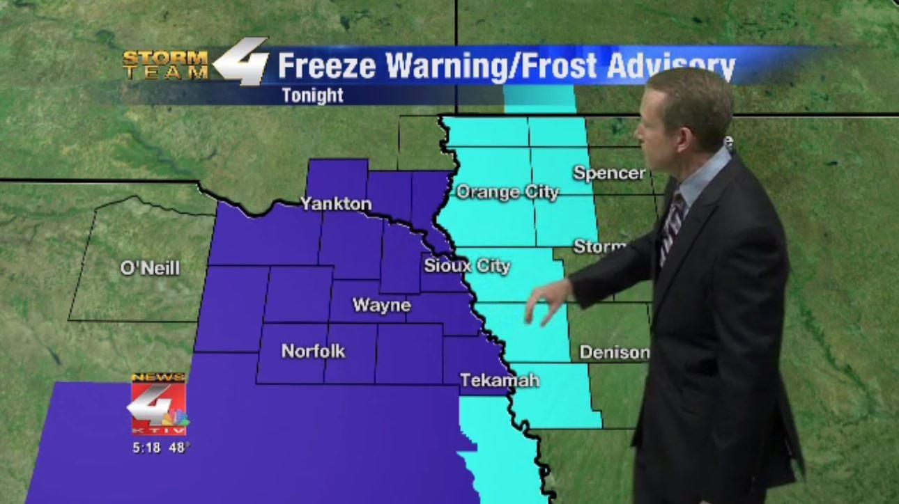 Frost Advisory and Freeze Warning