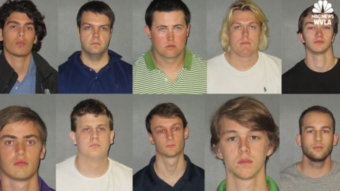 Ten LSU students have been charged in the hazing death of another student at a fraternity function.