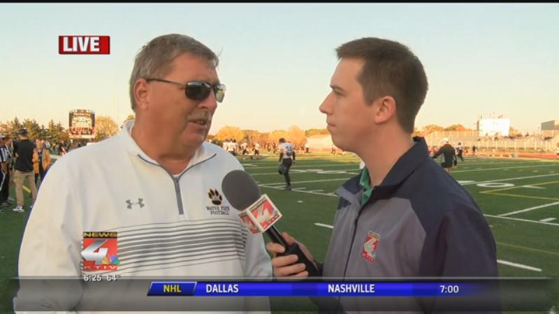 Mark Freund interviews WSC coach Dan McLaughlin.