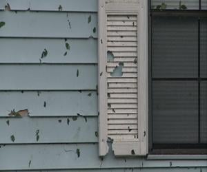 Several rounds of hail left a mark on homes in Martinsburg