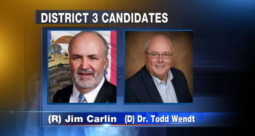 (R) Jim Carlin and (D) Dr. Todd Wendt