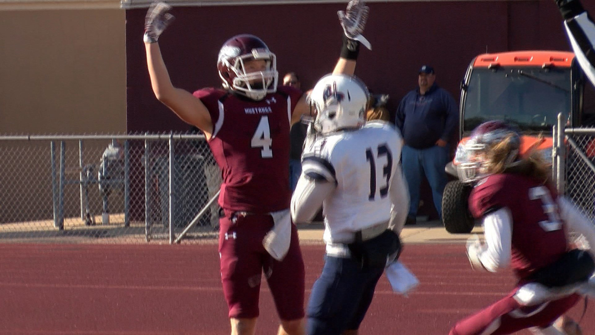 Connor Niles scored three touchdowns and Morningside beat Sterling on Saturday, 63-7.