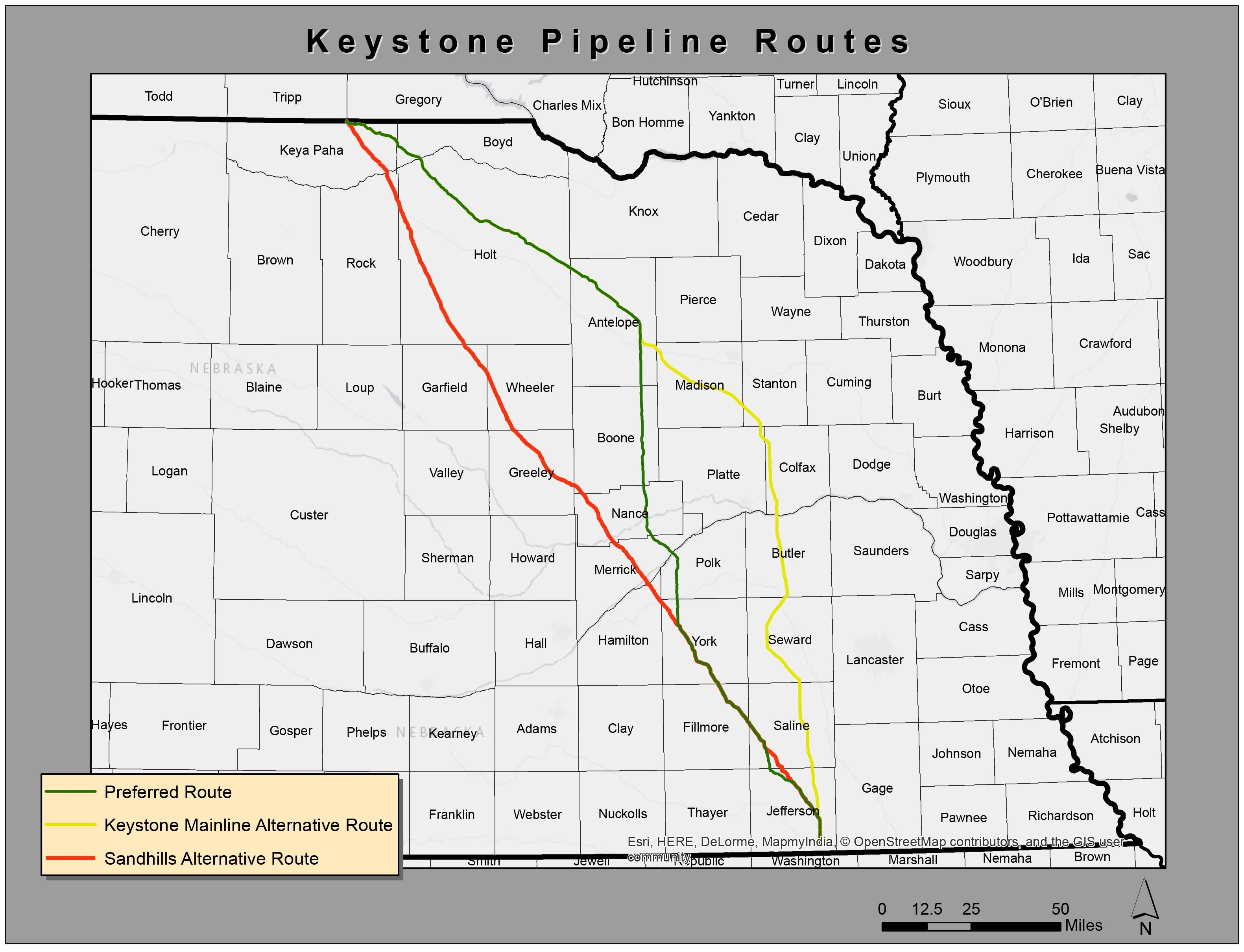Nebraska approves alternate route for Keystone XL pipeline