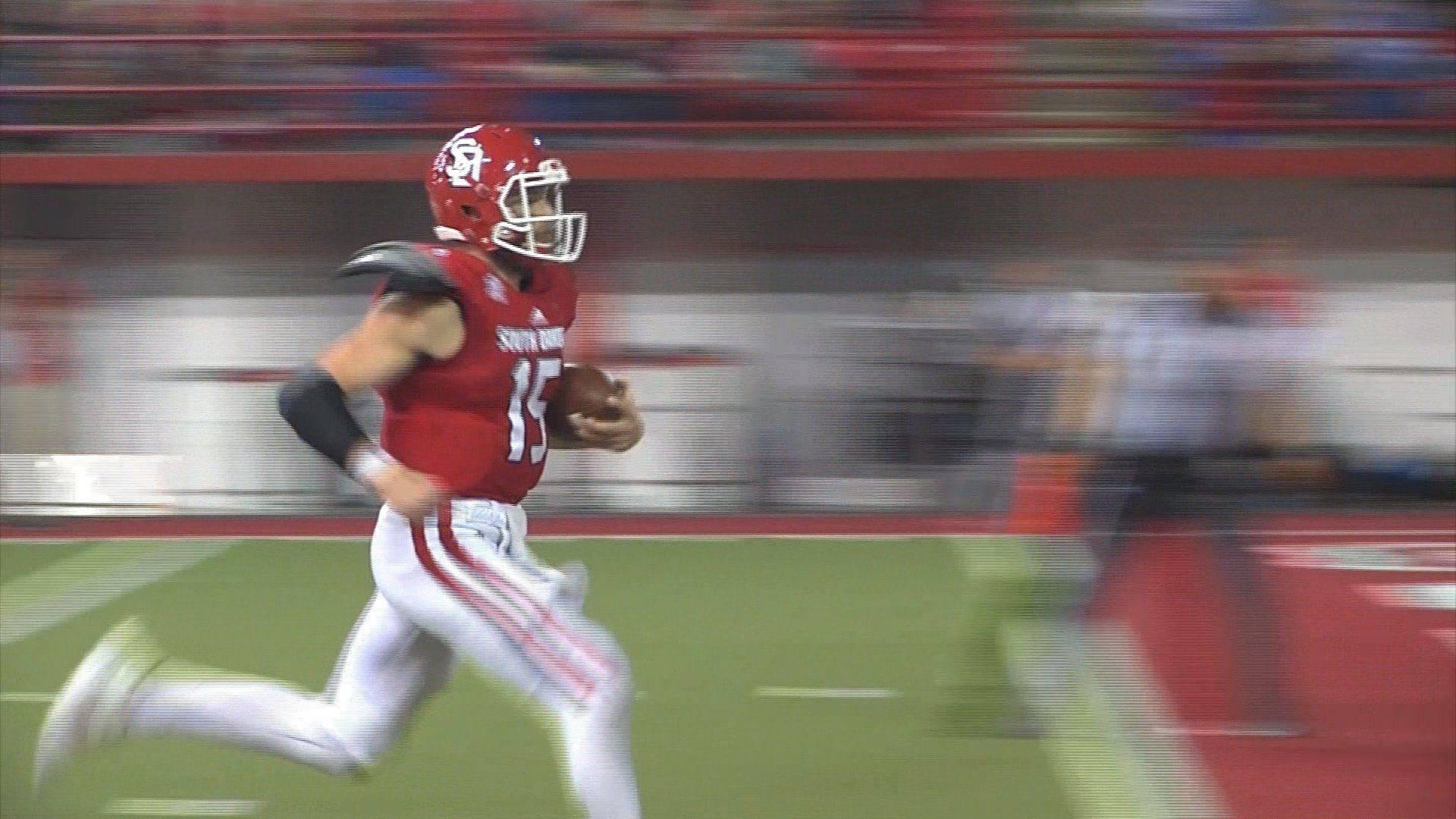 USD's Chris Streveler is a finalist for the Walter Payton Award.