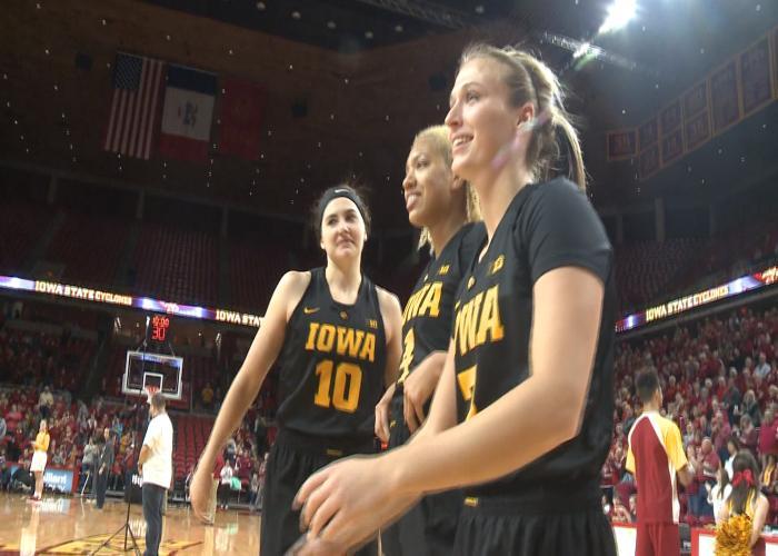 Iowa beat Iowa State, 61-55, on Wednesday in Ames.