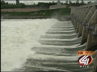 File photo of Gavin's point dam as releases were gradually increased