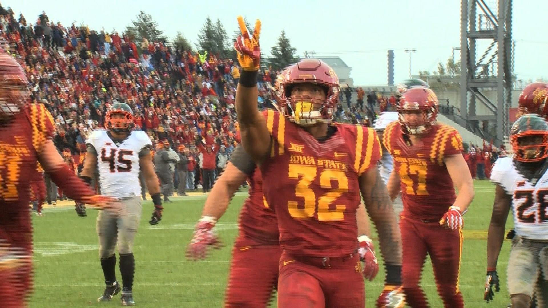 David Montgomery has 11 rushing touchdowns for Iowa State this season.