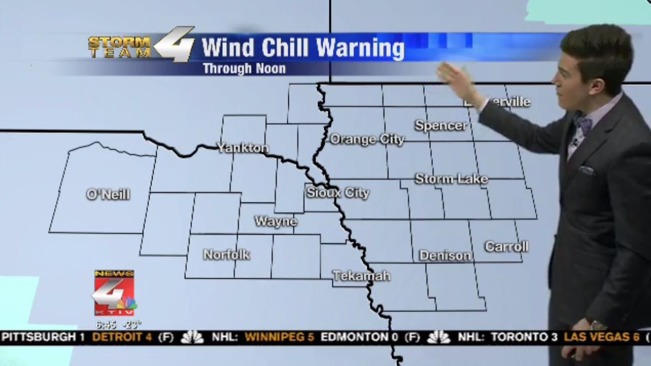 Wind Chill Warnings in Siouxland