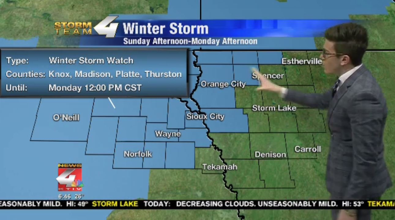 Winter Storm Watch issued for parts of Siouxland