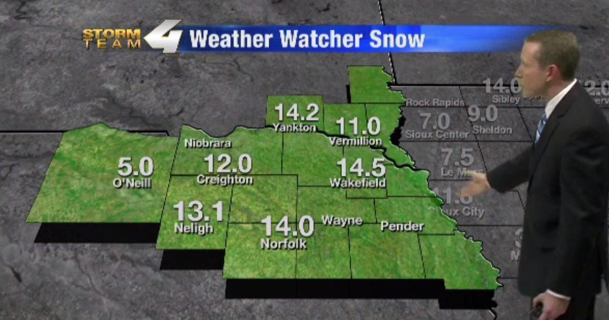 Siouxland Snowfall