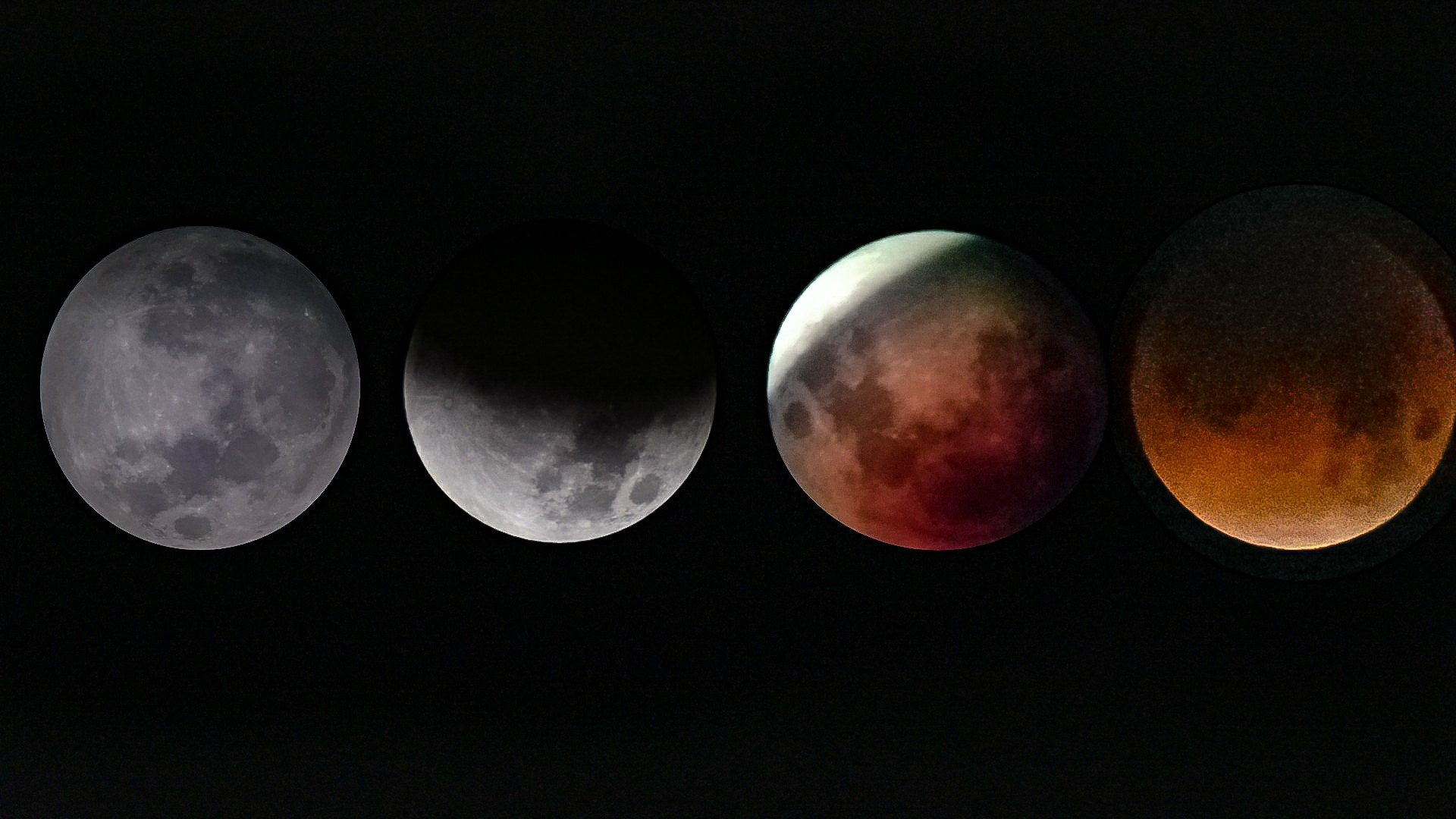 Courtesy: Jeremy VH - Phases of the Super Blue Blood Moon in Le Mars.