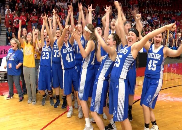 Newell-Fonda celebrates after their win over Central Decatur on Friday.