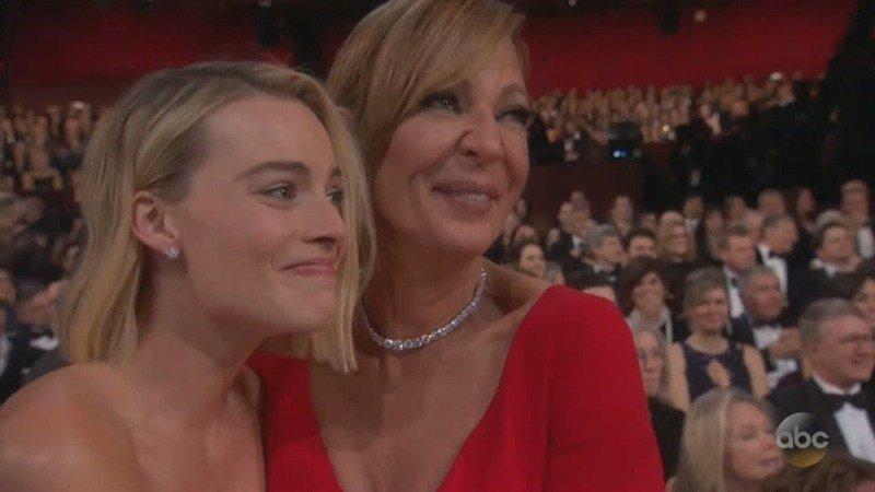 "Allison Janney collected Best Supporting Actress for playing real life figure skater Tonya Harding's mother in ""I Tonya."""
