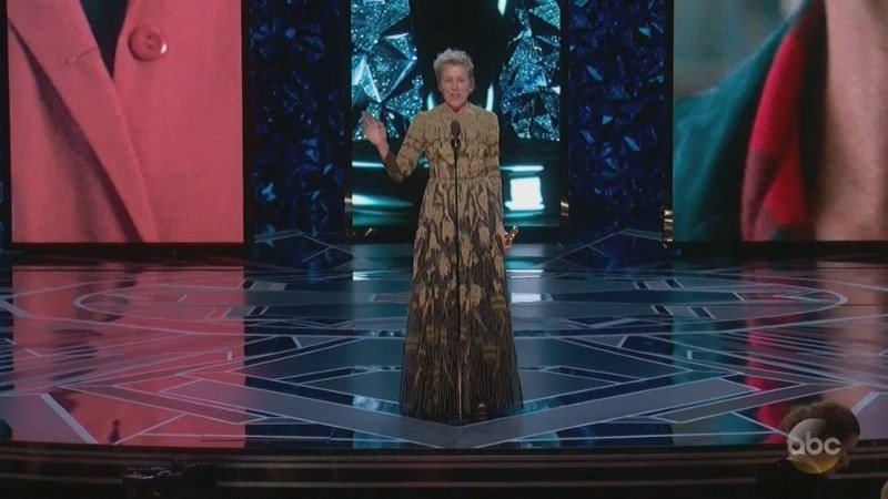 "Frances McDormand won her second Best Actress Oscar. Alongside her win for ""Fargo"" in 1997, she now has one for playing a grieving mother seeking justice in ""Three Billboards Outside Ebbing Missouri."""